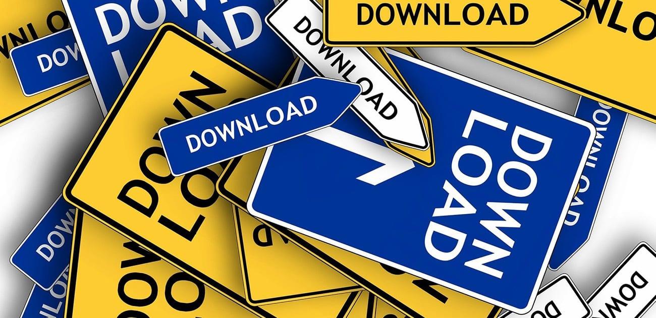 Downloaden neemt veel geheugen in